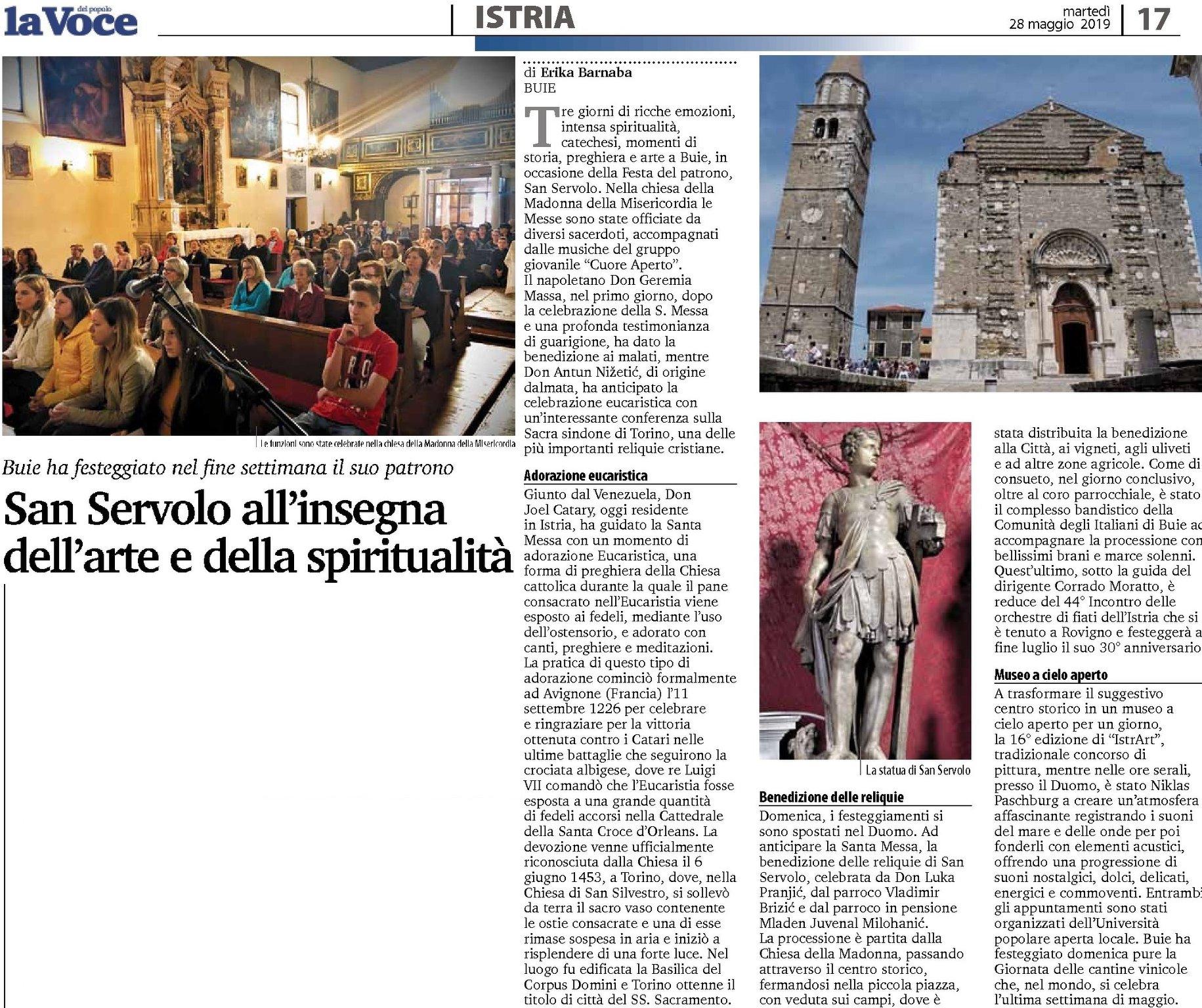 Članak iz La voce1